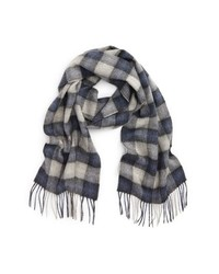 Barbour Gowan Check Wool Cashmere Scarf