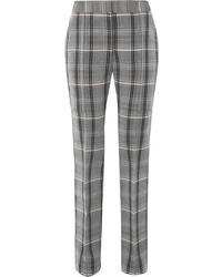Grey Check Wool Skinny Pants