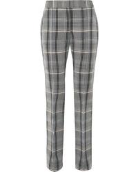 Stella McCartney Checked Wool And Cotton Blend Twill Slim Leg Pants