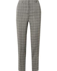 Akris Colin Checked Wool Slim Leg Pants