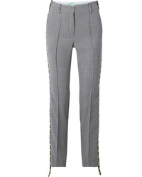 Off-White Houndstooth Med Wool Straight Leg Pants