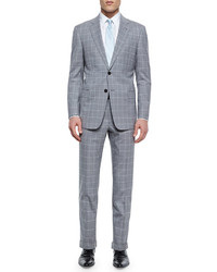 G line windowpane suit light graywhite medium 344171