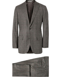 Freemans sporting club grey checked wool three piece suit medium 333070
