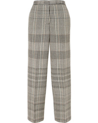 Jil Sander Checked Wool Blend Pants
