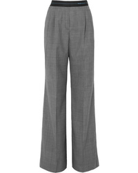 Prada Checked Wool Wide Leg Pants