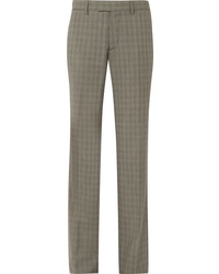 Balenciaga Le Monsieur Checked Wool And Straight Leg Pants