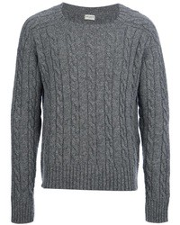 Saint laurent cable knit sweater medium 32021