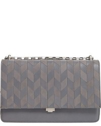Michael Kors Michl Kors Medium Yasmeen Chevron Leather Clutch Grey