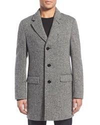 Grey Chevron Overcoat