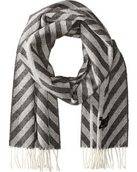 Grey Chevron Scarf