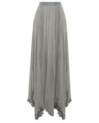 Pleated High Waisted Maxi Skirt - Dress Ala
