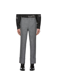 Givenchy Black And White Wool Trousers