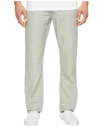 AG Adriano Goldschmied Graduate Tailored Leg Linen Pants In Sulfur Grey Haze Casual Pants