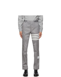 Thom Browne Grey 4 Bar Unconstructed Chino Trousers