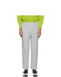 Homme Plissé Issey Miyake Grey Basics Trousers