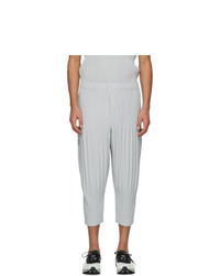 Homme Plissé Issey Miyake Grey Cropped Basics Trousers