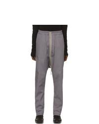 Rick Owens Grey Drawstring Long Trousers