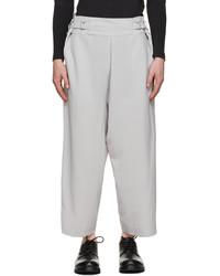 132 5. ISSEY MIYAKE Grey Flat Bottoms Trousers