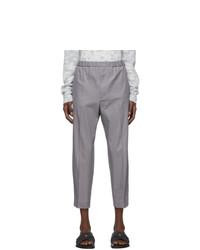 Jil Sander Grey Gabardine Trousers
