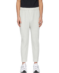 Homme Plissé Issey Miyake Grey Monthly Color January Trousers