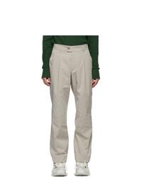 Serapis Grey Nylon Trousers