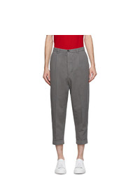 AMI Alexandre Mattiussi Grey Oversize Trousers