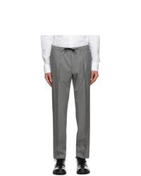 BOSS Grey Pinstripe Bardon Trousers