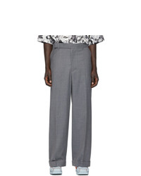Eckhaus Latta Grey Pinstripe Sway Trousers