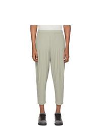 Homme Plissé Issey Miyake Grey Pleats Bottom Trousers
