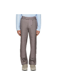 Craig Green Grey Quilted Skin Trousers