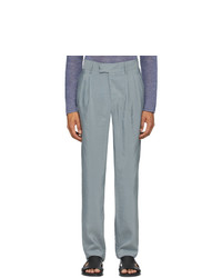 Giorgio Armani Grey Silk Business Trousers
