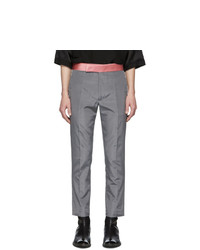 Haider Ackermann Grey Skinny Classic Trousers