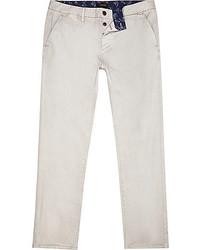 River Island Grey Slim Chino Pants
