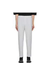 Homme Plissé Issey Miyake Grey Tailored Pleats 2 Trousers