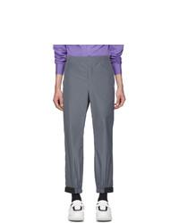 Prada Grey Techno Poplin Travel Trousers