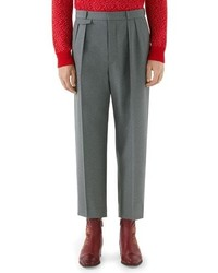Gucci High Waist Wide Leg Trousers