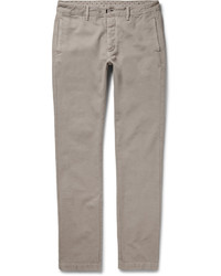 Massimo Alba Slim Fit Cotton And Cashmere Blend Chinos