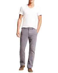 DL1961 Premium Denim Casual Straight Leg Chino Pants Gray