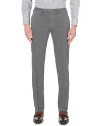 Canali Regular Fit Straight Cotton Chinos