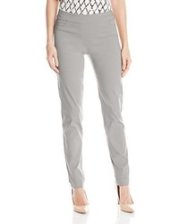 Slim sation wide band pull on straight leg pant with tummy control medium 3663797