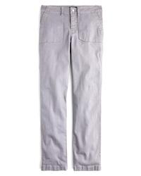 J.Crew Slub Sa Straight Leg Cargo Pants