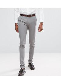 ASOS DESIGN Tall Super Skinny Smart Trousers In Grey