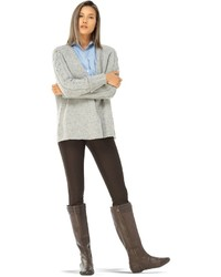 Wool cashmere tweed chunky knit cardigan sweater medium 800233