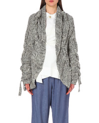 Grey Chunky Open Cardigan