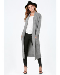Bebe Shawl Collar Long Cardigan