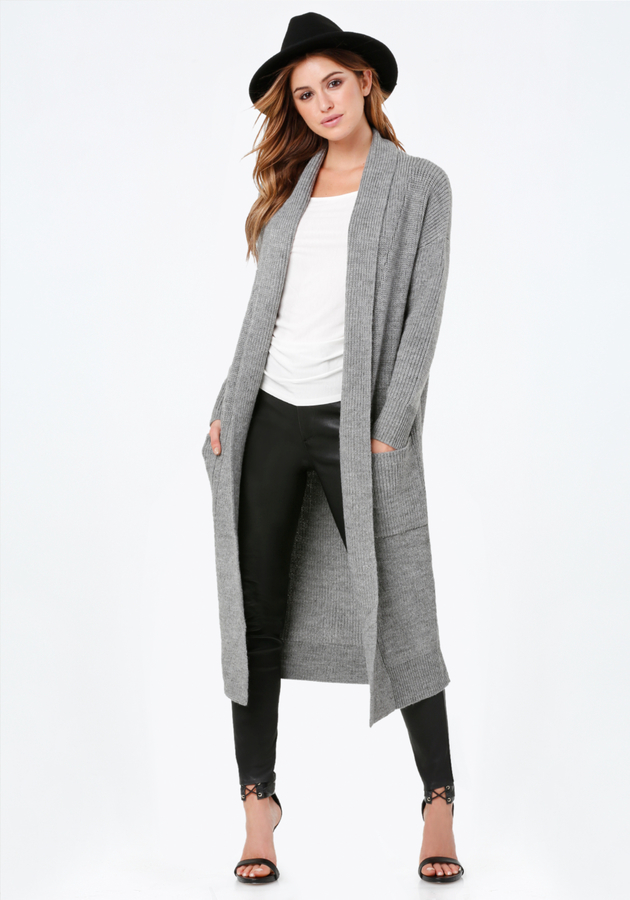 Bebe Shawl Collar Long Cardigan | Where to buy & how to wear