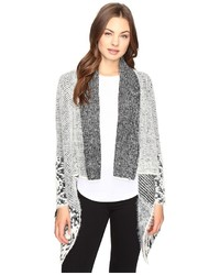 Christin Michaels Christin Michls Embry Long Sleeve Fuzzy Cardigan