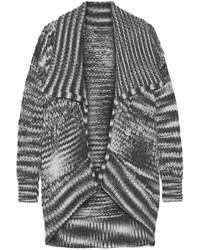 Donna Karan New York Draped Chunky Knit Alpaca Blend Cardigan