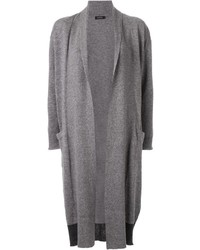 Loveless Contrast Panel Drape Long Cardigan