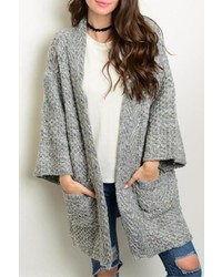 Loveriche Gray Sweater Coat